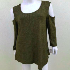 NWT XL NY Collection Olive Green Shirt